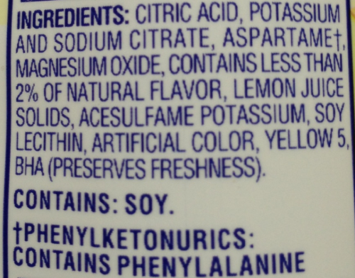 crystal light ingredients